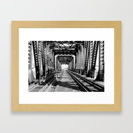 Train Bridge Framed Art Print