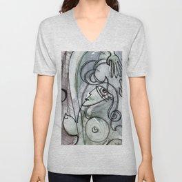 Abstract Nude Goddess No. 40O by Kathy Morton Stanion Unisex V-Neck