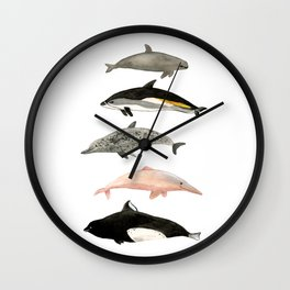 Dolphins and porpoises Wall Clock
