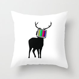 Deer TV Throw Pillow