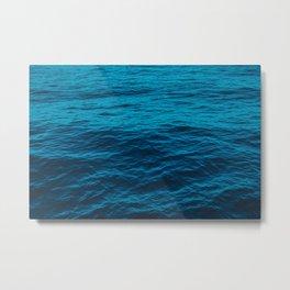 water surface, Blue ocean waves - deep blue sea Metal Print