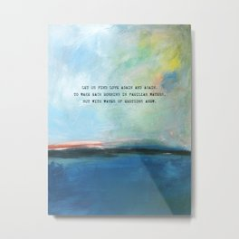 Abstract Ocean Painting and Colorful Sky with Poem Metal Print