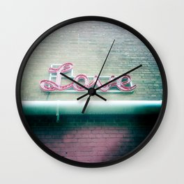 Sign of Love Wall Clock
