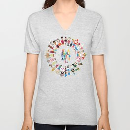 It's a Small World  Unisex V-Neck