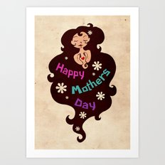 Mothers' Day Card Art Print