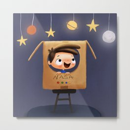 Little astronaut Metal Print