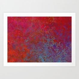 Rose-Petal Red Art Print