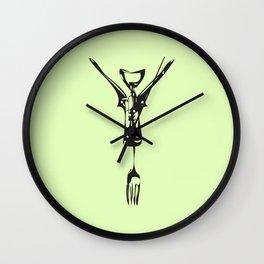 Cork Fork Wall Clock