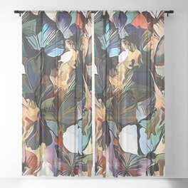 Fairies and Butterflies Communing With Nature Sheer Curtain