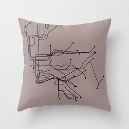 New York City Subway Throw Pillow