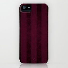 Red Wine Stripes iPhone Case