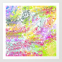 confetti Art Prints featuring Confetti by Abstract Designs