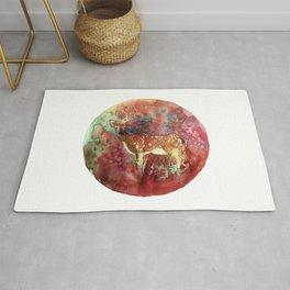 watercolor deer Rug