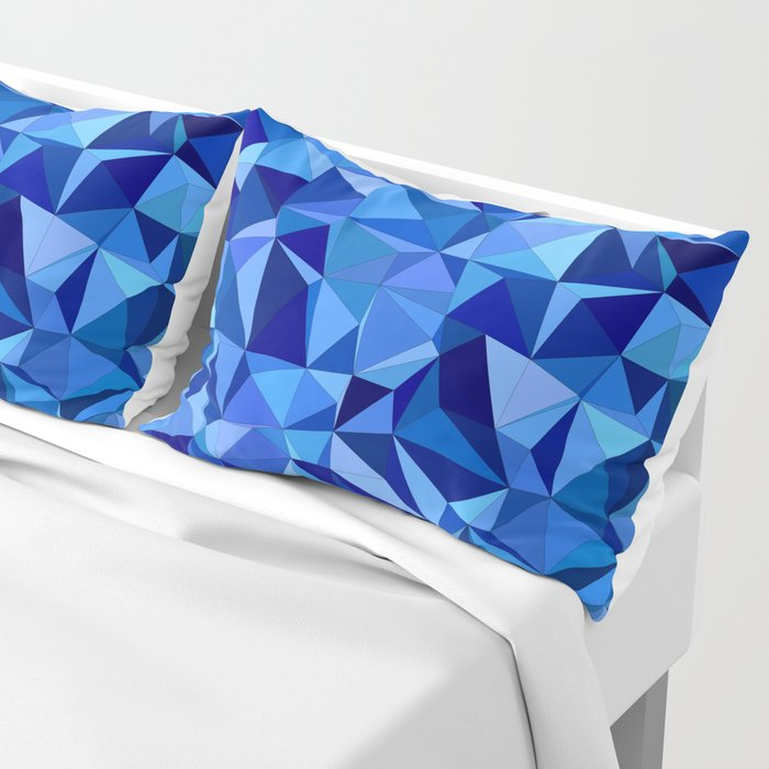 Blue tile mosaic Pillow Sham