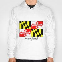maryland Hoodies featuring Maryland by rita rose