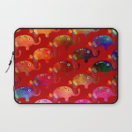 Colorful Elephants Laptop Sleeve