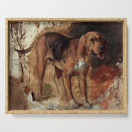 """William Holman Hunt """"Study Of A Bloodhound"""" Serving Tray"""