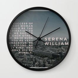 Serena Williams On Women Supporting Each Other 4 Wall Clock