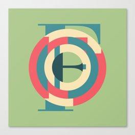Typography series #F Canvas Print