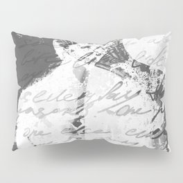 Black and White Woman Painting Pillow Sham