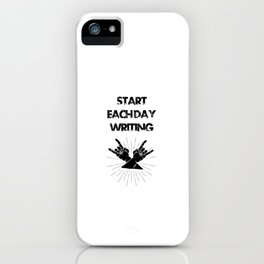 Funny, passionate Writing gift iPhone Case