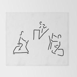 fitness hometrainer crosstrainer sport Throw Blanket