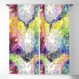Rainbow Spectrum heart extra dense pattern Blackout Curtain