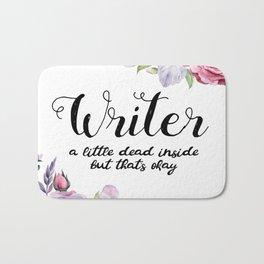 Writer Little Dead Inside Bath Mat