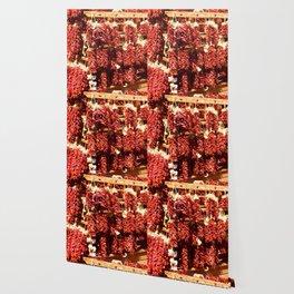Red Chili Ristra And Gralic Wallpaper