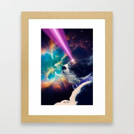 Neko San in Space Framed Art Print