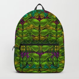 Butterfly flower jungle and full of leaves everywhere Backpack