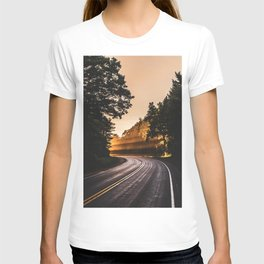 Bright Light Along the Road in Wisconsin T-shirt