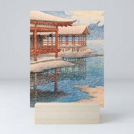 12,000pixel-500dpi -Kawase Hasui - Travel Souvenir Second Collection, Miyajima, Snow Of Fine Weather Mini Art Print