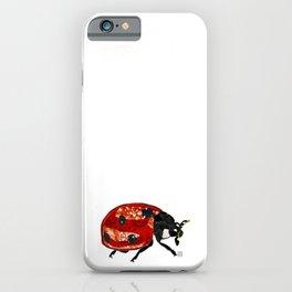 Ladybug - Mixed Media Digital Collage iPhone Case