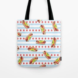 Chicago Hot Dogs Tote Bag
