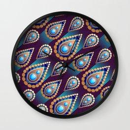 Turkish Blue Wall Clock