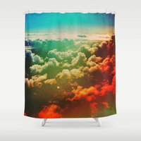 pilot Shower Curtains featuring Pilot Jones by Polishpattern