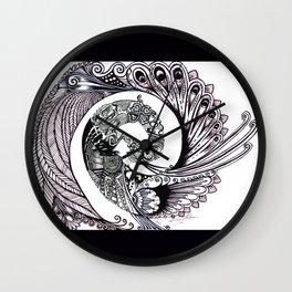 Peacock Spiral Wall Clock