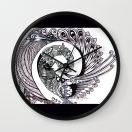 Peacock Spiral Wall Clock