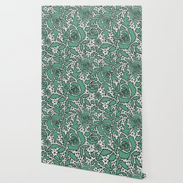 Black and green lace Wallpaper