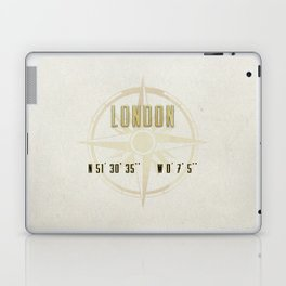 London - Vintage Map and Location Laptop & iPad Skin
