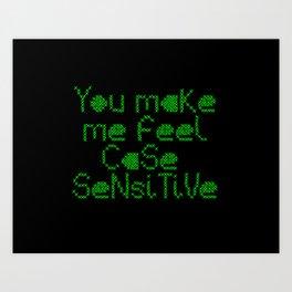 Case Sensitive Art Print