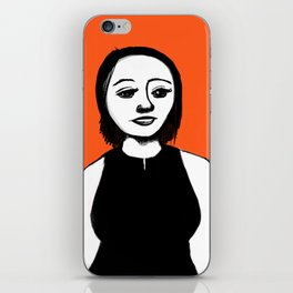 Cutout Orange iPhone Skin