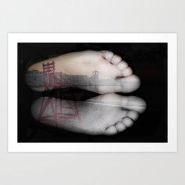 Beach Feet #2 Art Print