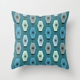 Mid Century Modern Pattern Throw Pillow