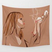 ursula Wall Tapestries featuring Ursula by Elena Medero