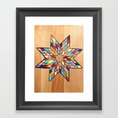 Star Quilt Block Framed Art Print