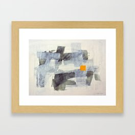 Orange Square Framed Art Print