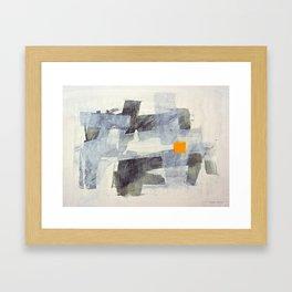 Orange Square Framed Art Print
