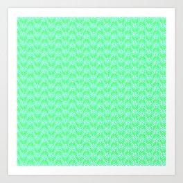 Candy Wrapper Ladybug Mint Green White Turquoise Unisex Decor Design Pattern Art Print